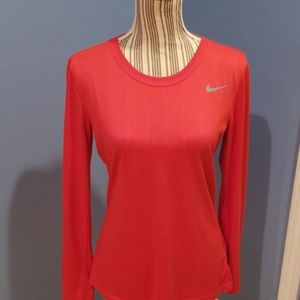 Nike womens long sleeved small dri-fit